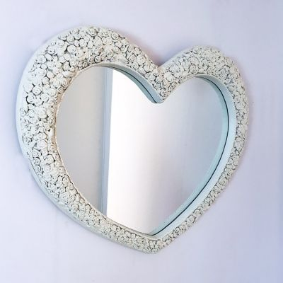 Rose frame cream heart shaped wall mirror 110 x 92cm Shop > http://www.exclusivemirrors.co.uk/heart-shaped-mirrors/rose-frame-cream-heart-shaped-wall-mirror-110-x-92cm