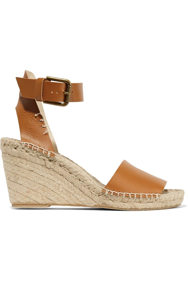 SOLUDOS LEATHER ESPADRILLE WEDGE SANDALS GBP62.50 http://www.theoutnet.com/product/874157