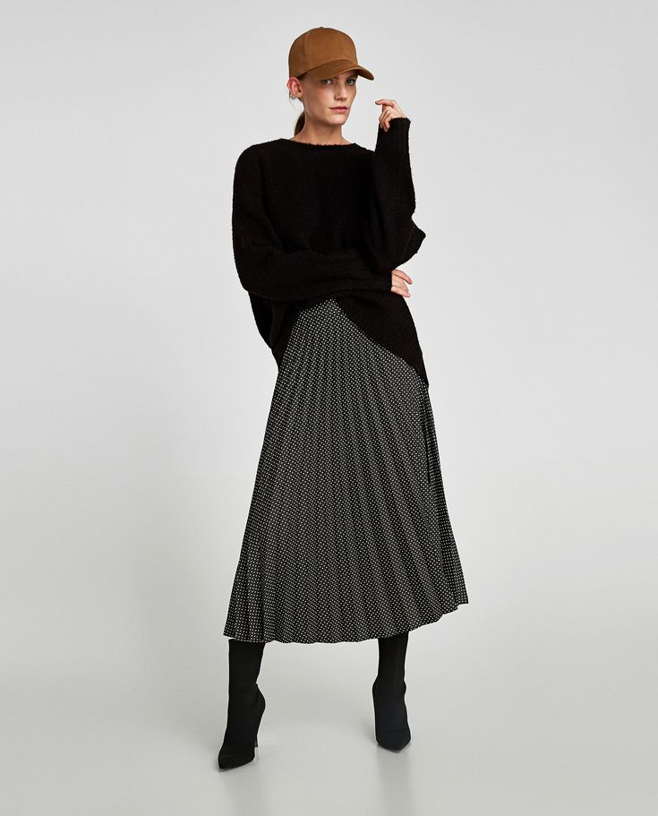 ZARA - WOMAN - POLKA DOT PLEATED SKIRT