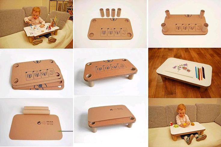 DIY Cardboard Play Table for Kids | iCreativeIdeas.com Follow Us on Facebook --> https://www.facebook.com/iCreativeIdeas