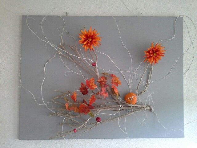 Vier seizoenen schilderij: herfst