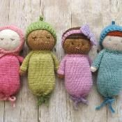Knitting: Knit Baby Doll Patterns on Craftsy, adorable - and I love that they aren't generic!