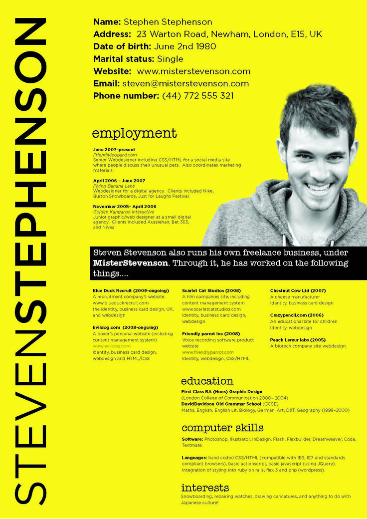 38 best creative resumes images on pinterest cv design resume
