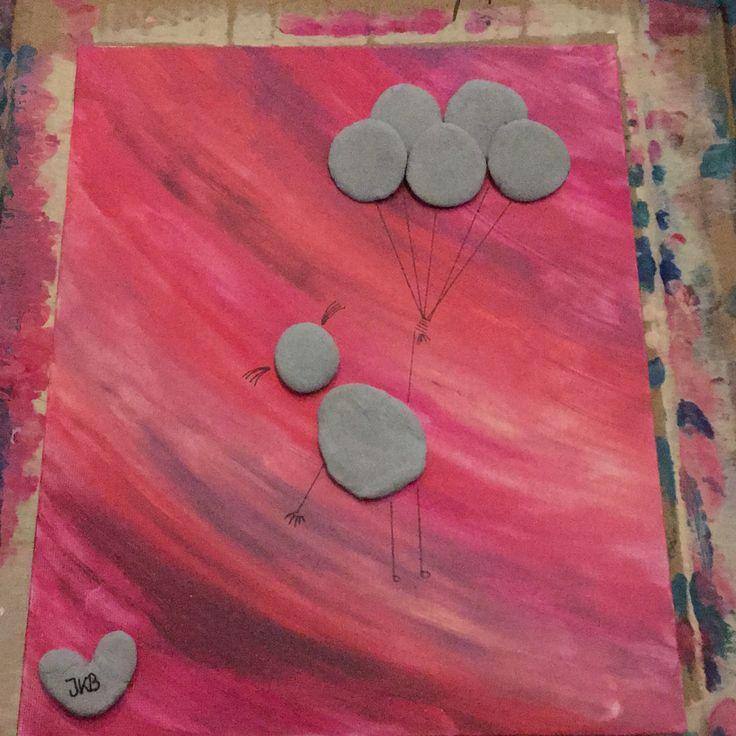 #selbstgemacht #geschenk #luftballons #ballon #pink #purple #steine #love #rosa #bilder #JKB #art #kunst #formen