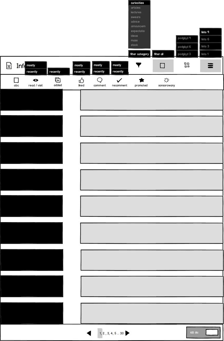 Wedding companies_Information Extended mockup_example of list view_ 9 lines.
