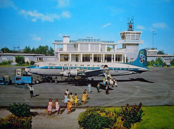Olympic Airways Douglas DC-6B (Island of Rhodes) [SX-DAD], at Corfu airport