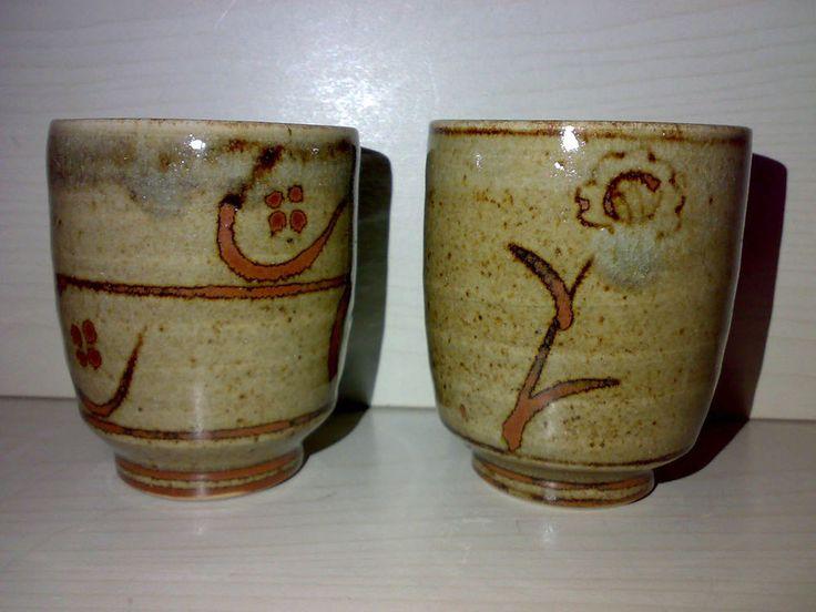 2 Becher Tee / Wein HORST KERSTAN KANDERN Studio Pottery Keramik H: ca. 8,7 cm *