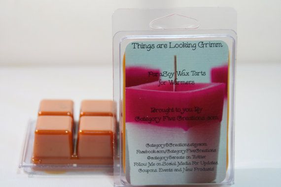 Wax Tarts Things Are Looking Grimm – Blended for Electric Warmers – Tarts for Book Lovers – Grimm's Fairy Tales or Fans of the show Grimm – find at Category5Creations on Etsy