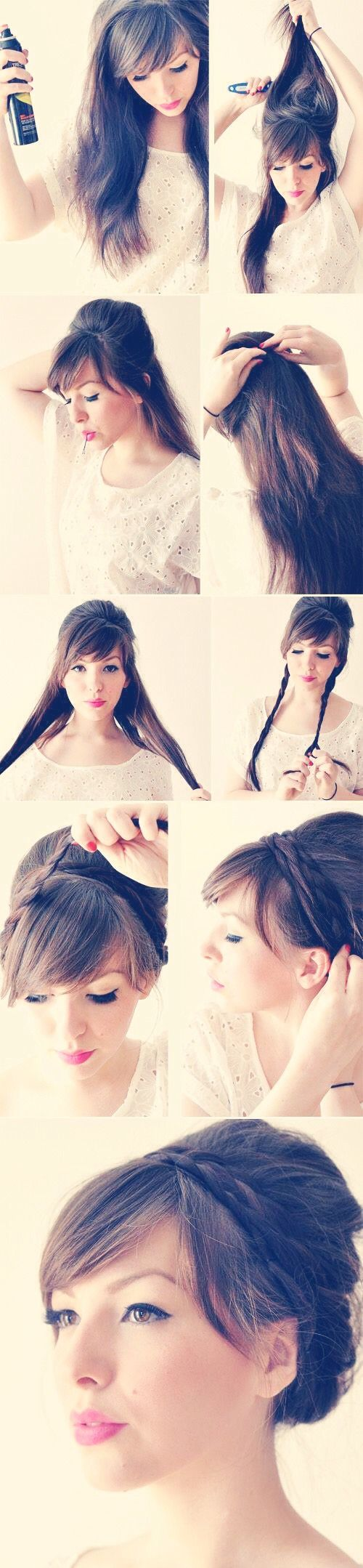Cute Ways To Updo Your Hair In 10 Minutes!