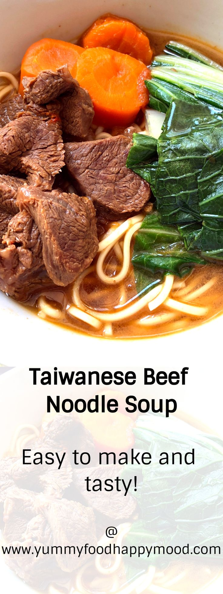 Make delicious Taiwanese Beef Noodle Soup at home. Super tasty!