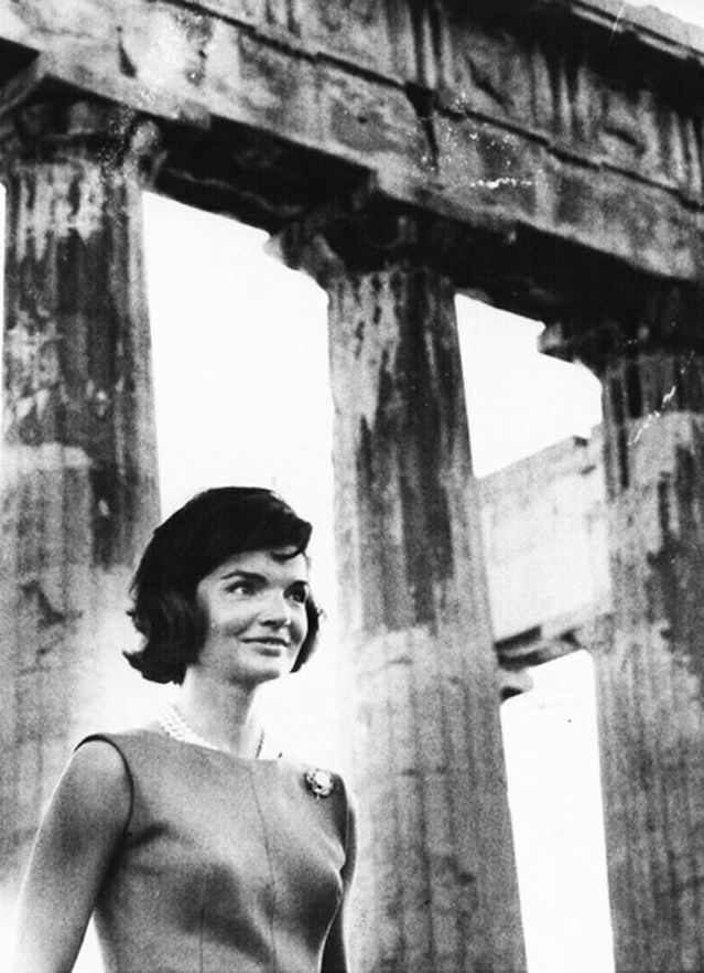 Jackie Kennedy at the Acropolis