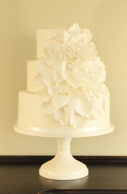 Cakebox: Rose Petal Wedding Cake; I would want the flowers in different colors though
