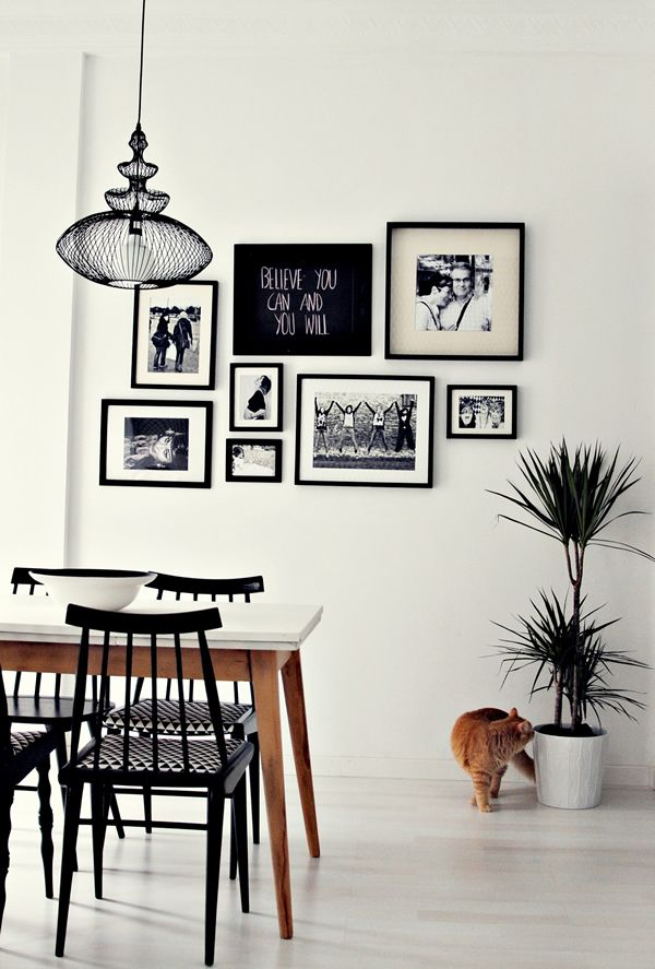 Comedor blanco y negro / Black and white dining room / Casa Haus