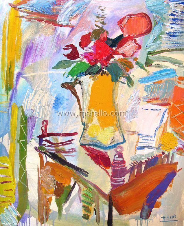 """BLOEMEN VAN DE PASSIE.  José Manuel Merello.- """"Passion flowers"""" (100x81 cm)  HEDENDAAGSE KUNST. Moderne schilderkunst. Hedendaagse Spaanse schilders. Artiesten XXI-21 de eeuw. Amsterdam, Madrid, Parijs, kunst, luxe en decoratie. ACTUELE KUNST. Modern Art. Investering. http://www.merello.com"""