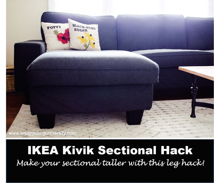 My Ikea Kivik Sectional Grows Up Ikea Hacks Ikea Couch