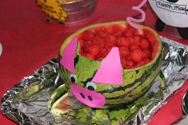 das Wassermelonenschwein