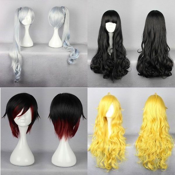 RWBY Cosplay Red Yollow Trailer Ruby Weiss Schnee Blake Belladonna Yang Xiao Wig in Clothing, Shoes & Accessories | eBay