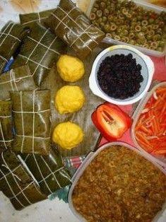 Ingredientes para las Hallacas venezolanas.