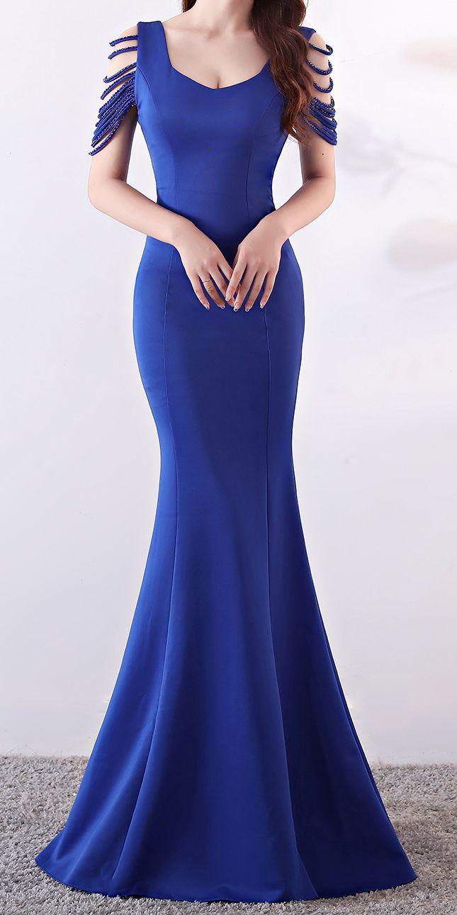 Royal Blue Long Tight Evening Dress Stunning Evening Dresses Maxi Dress Evening Blue Dress Formal [ 1291 x 645 Pixel ]