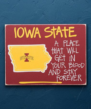 Look what I found on #zulily! Iowa State Cyclones Ames Map Wall Sign #zulilyfinds