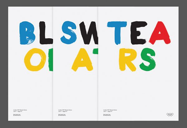 blood sweat tears - olympic poster series