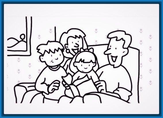 Dibujo Facil De Una Familia Familia Para Dibujar Paginas Para Colorear De Biblia Libro De Colores