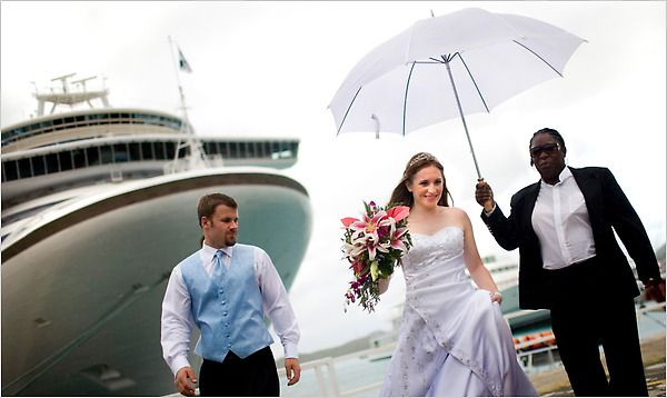Couples book a wedding at sea for a better deal cruises for Couples long weekend getaway