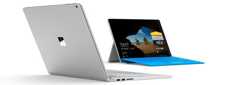 Surface Book et Surface Pro 4 avec écran de démarrage Windows