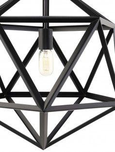 Hexagon Black Metal Chandelier 2 461x614