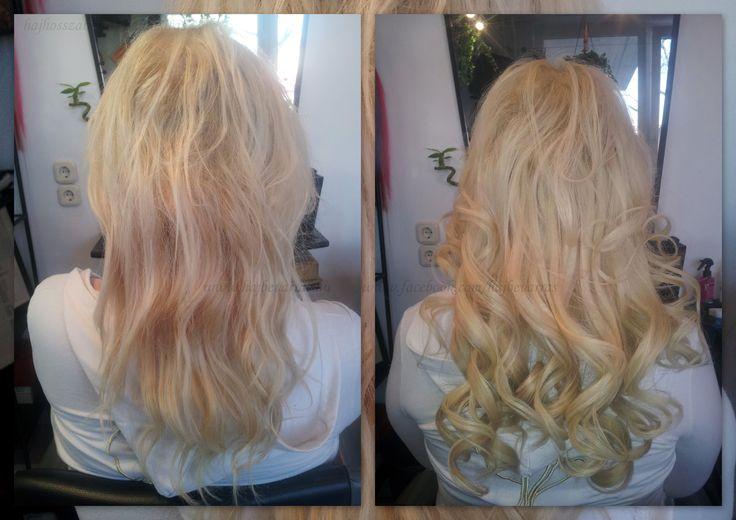 Hajhosszabbítás 50 cm-es európai hajból, mikrogyűrűs tincses technikával, festéssel.  www.hajbevarras.hu www.fb.com/hajbevarras #hajhoszabbítás #hajdúsítás #mikrogyűrű