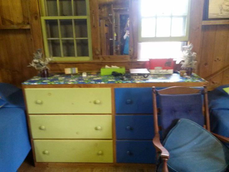 Photo taken 2014: Interior bunk room with dresser. Circa 1947. Taken in the Nickerson North Beach Camp. #northbeach, #nickerson, #camp, #beachcamp, #1940s, #atwoodhouse, #chathamhistoricalsociety, #chatham, #capecod