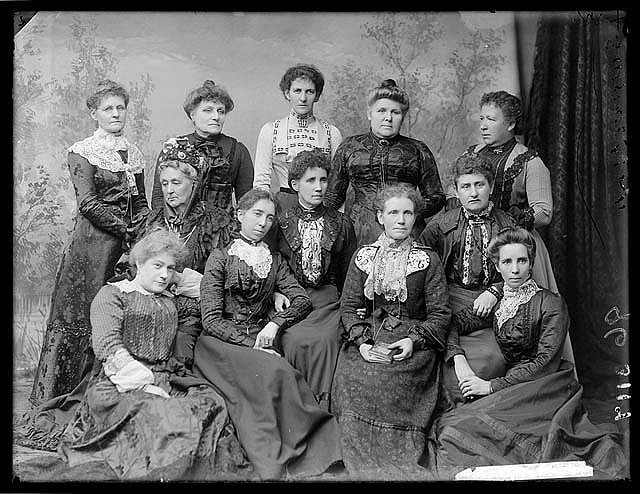 Members of the Womanhood Suffrage League in around 1902. Legends! Source: State Library of New South Wales.  Via: @statelibrarynsw