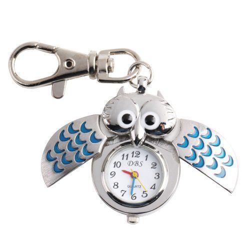 YESURPRISE Silver Pendant Pocket Key Ring Cool Blue Owl Quartz Watch Yesurprise http://www.amazon.com/dp/B009GSJ6DO/ref=cm_sw_r_pi_dp_QKsJub17FSN7H