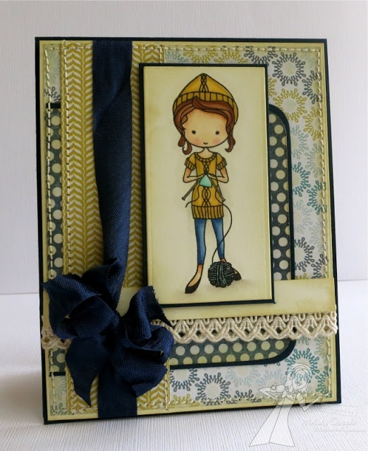 Knitting Nancy Card by Melody Rupple