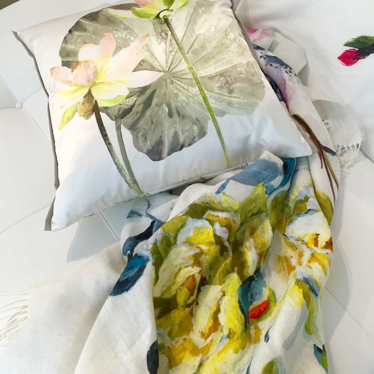 Floral soft furnishings to brighten any space.  #insidecocoonfurnishings #floralfabric #designersguild #handpaintedfloral #accessories