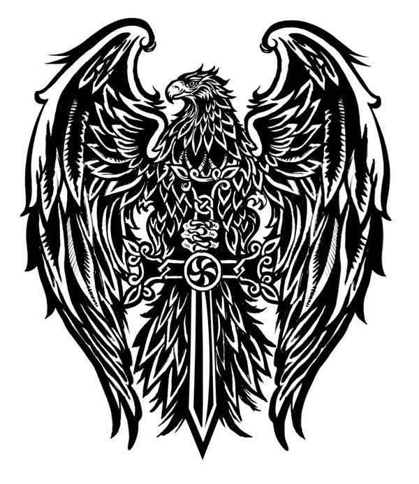 Картинки татуировок с орлом