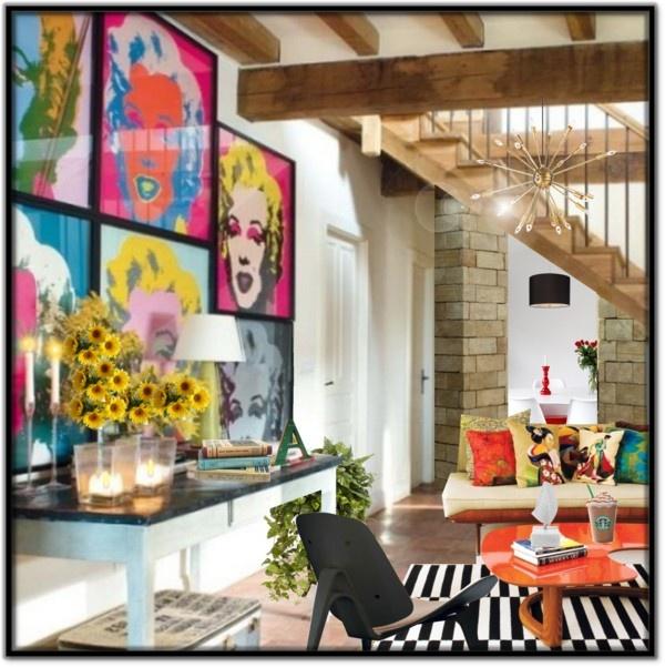 Pop Art Living Room By Melissa De Souza On Polyvore