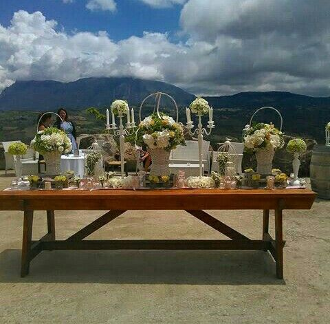 scenic table for wedding day Antonio e Noemi