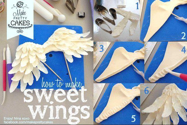 Sweet wings.  https://www.facebook.com/MakePrettyCakes. https://www.facebook.com/photo.php?fbid=684492351566204=a.682083651807074.1073741844.431625523519556=1
