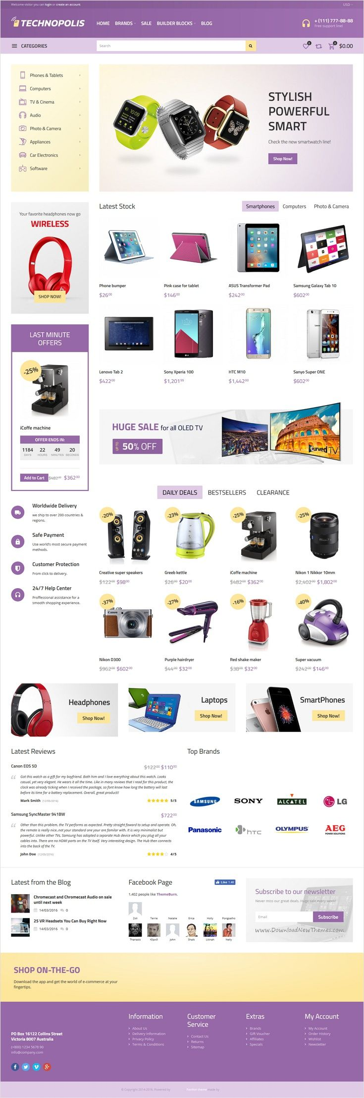 Rechnopolis is beautifully design 3 in 1 #Opencart theme for selling #appliances, #tech #products, electronics and accessories eCommerce website download now➩ https://themeforest.net/item/technopolis-electronics-store-opencart-theme/17378503?ref=Datasata