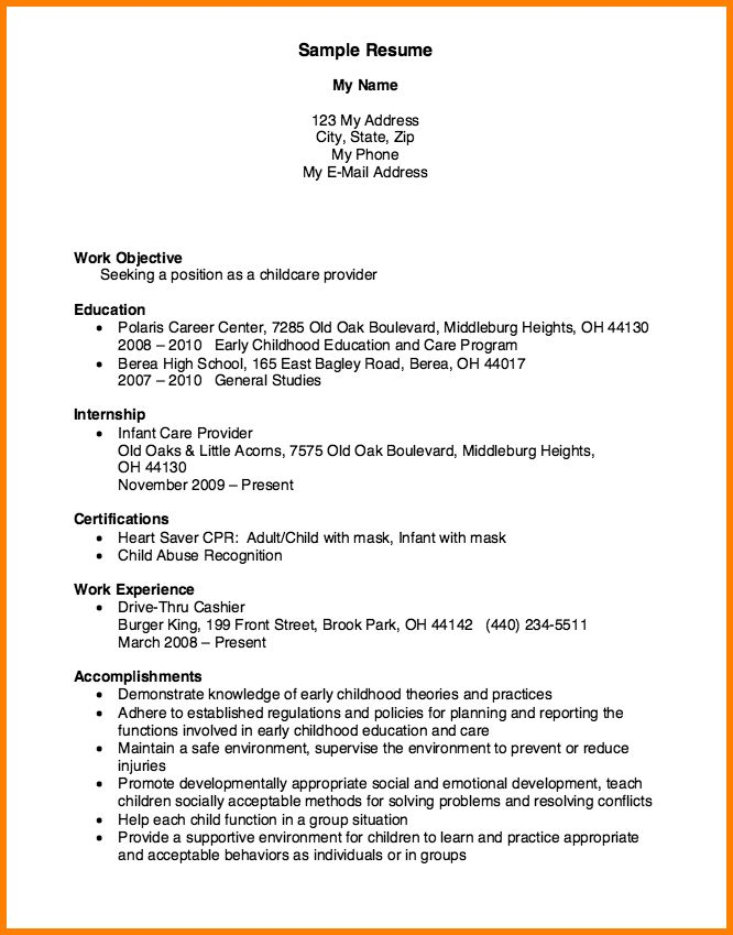 22 best resume images on Pinterest Resume examples, Sample - child care resumes