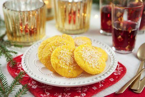 Saffranskakor med citron och kokos