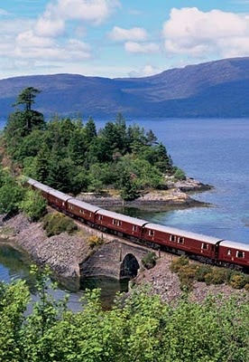 Orient Express train leaves from London to Prague, Rome, Venice and Vienna, and passes through pristine countryside in countries such as Switzerland and Germany.