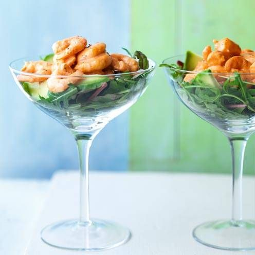 This retro prawn cocktail recipe is given a sparkly twist with the addition of smoked paprika.