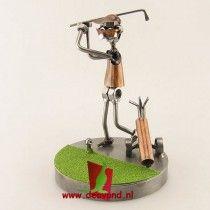 Golfer green moerenbeeldje