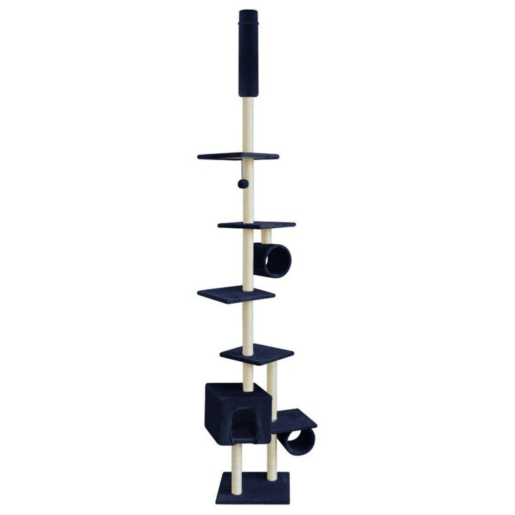 Festnight 8.5ft/ 260 cm Cat Play Tower Kitten Scratching Post Climbing Tree Dark Blue >>> You can find out more details at the link of the image. #CatScratchersandFurniture