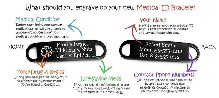 what should I engrave on my Medical ID Bracelet