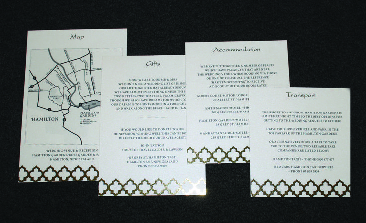 Gold Foiled Wedding Invitations designed by Imagine If Creative Studios