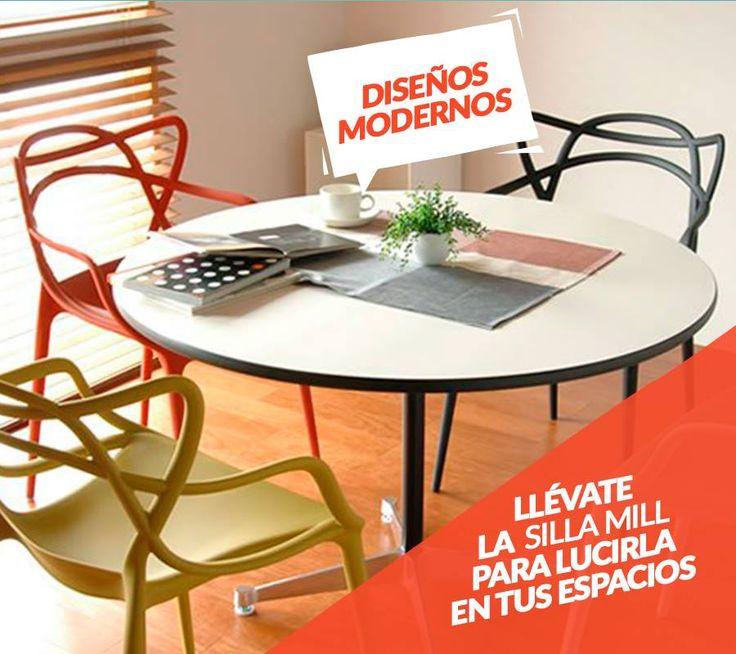 Mobiliario que transmiten modernidad, comodidad y vanguardia a tus espacios más originales. En Metálicas Cruz encuentras estos productos y muchos más. Visitanos en la sede Norte en Bogotá.  *REF: Silla Mill, disponible en blanco, negro y amarillo.*
