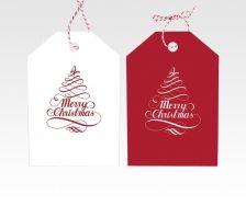 Gebruik onze hangtag template ook voor het ontwerpen van cadeau etiketten #hangtag #kerst